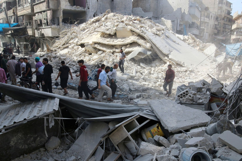 Tra le macerie di Aleppo