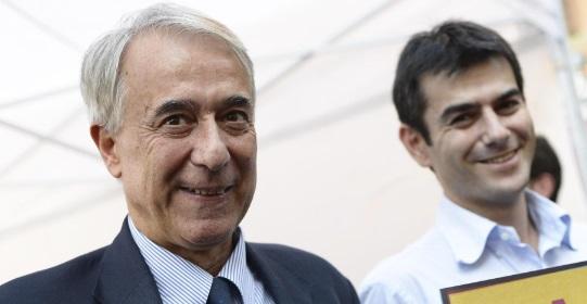 Giuliano Pisapia, ex sindaco di Milano, e Massimo Zedda, sindaco di Cagliari