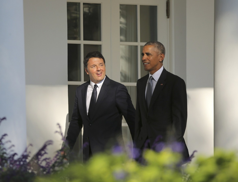 Obama e Renzi alla Casa Bianca