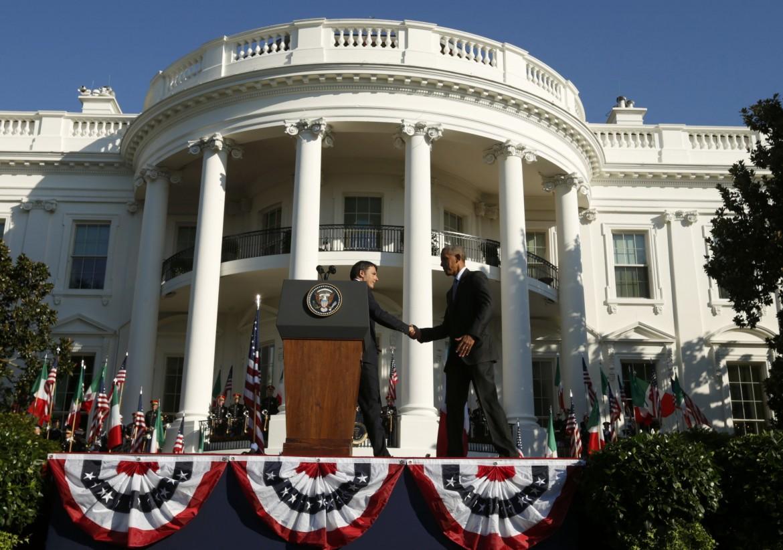 Obama e Renzi ieri a Washington