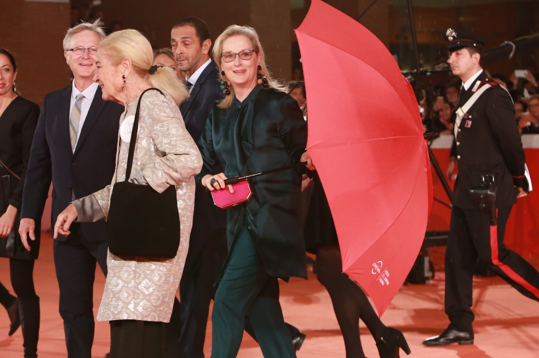 Meryl Streep sul red carpet a Roma