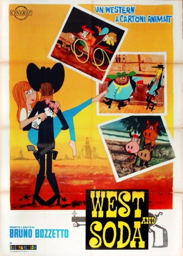 West and Soda: la locandina originale del 1965 - © Bruno Bozzetto