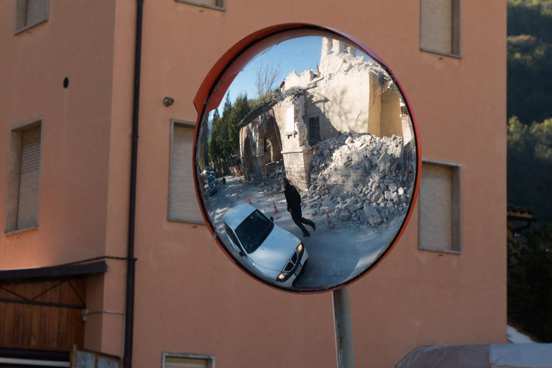 Villa Sant'Antonio, frazione di Visso nello scorso ottobre (Macerata)