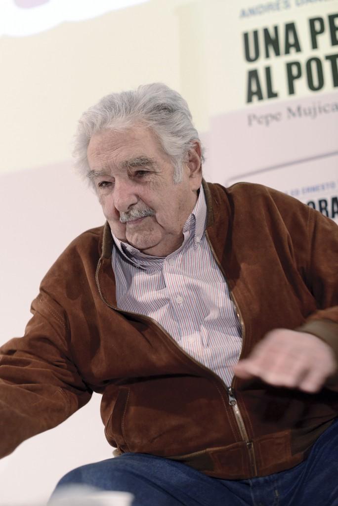L'ex presidente dell'Uruguay Pepe Mujica ieri a Roma