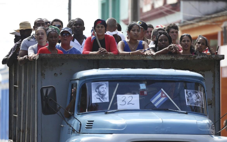 La carovana per Fidel a Cuba