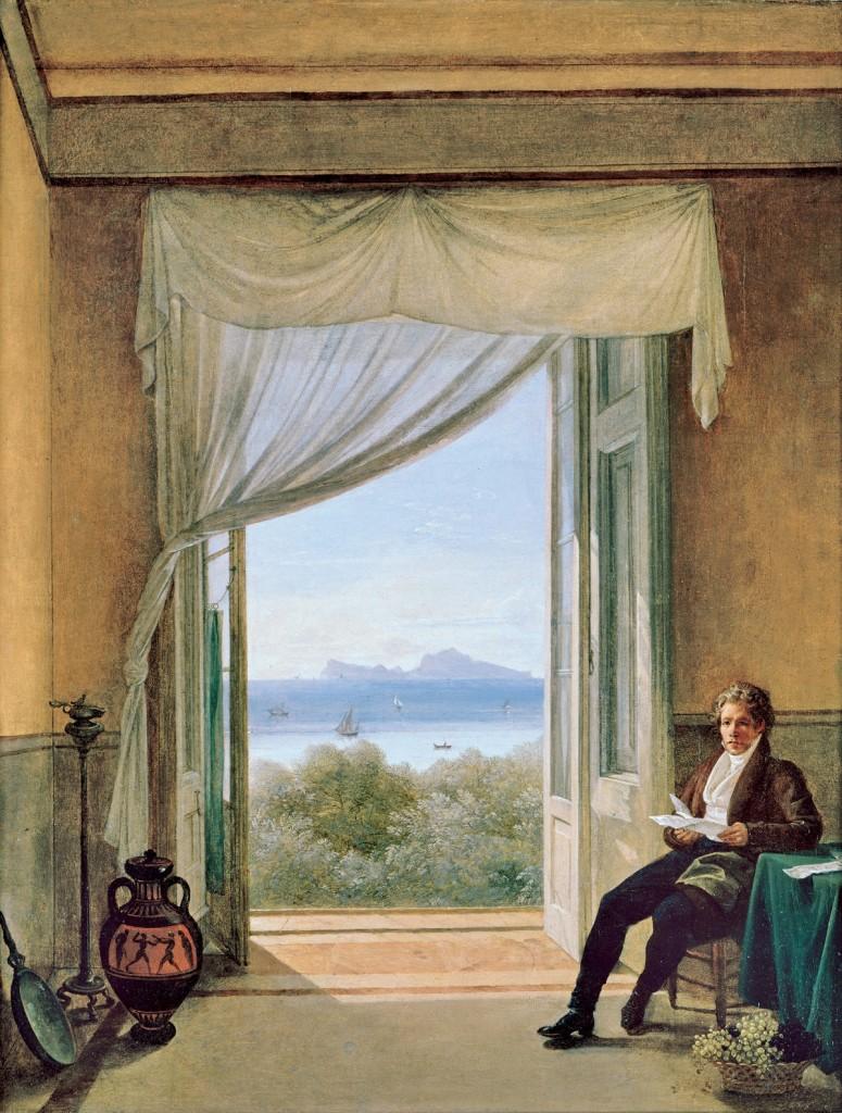 Franz Ludwig Catel, «Karl Friedrich Schinkel in Neapel», 1824, Berlino, Staatliche Museen, Nationalgalerie