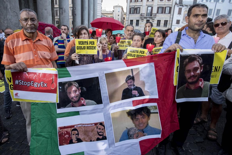 Mmanifestazione per la verità sull'omicidio di Giulio Regeni