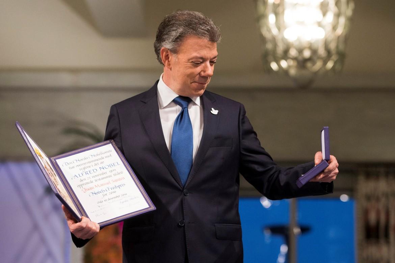 Il presidente colombiano Manuel Santos