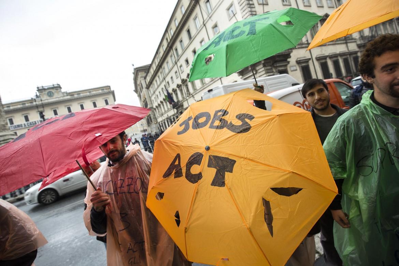Protesta contro il Jobs Act