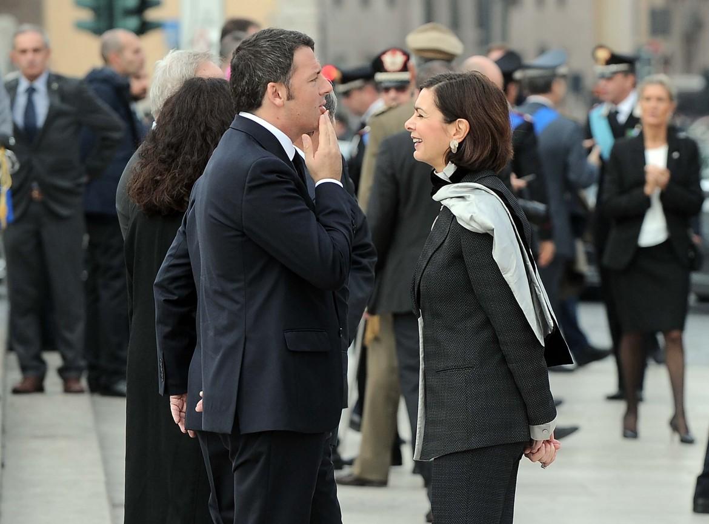 Matteo Renzi e Laura Boldrini