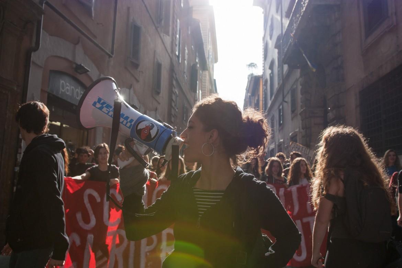 Manifestazione contro la Buona scuola