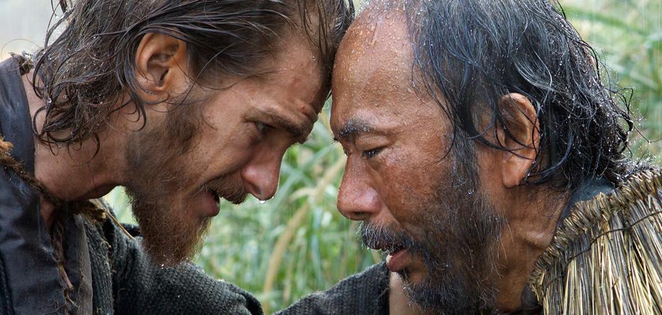 Andrew Garfield e Shinya Tsukamoto in «Silence»
