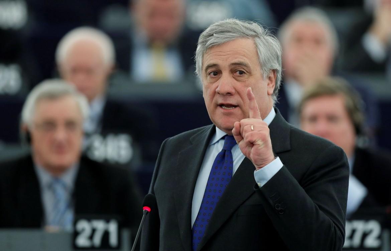 Il presidente dell'Europarlamento Antonio Tajani