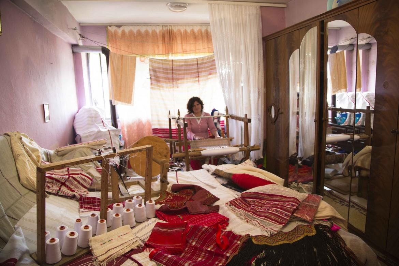 Kristina Nindozi nella sua casa (foto Vincenzo Mattei)