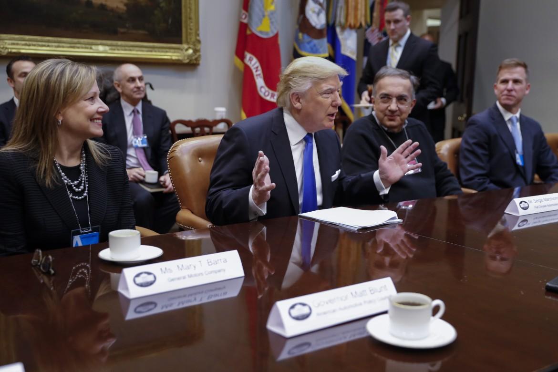 Sergio Marchionne con Donald Trump