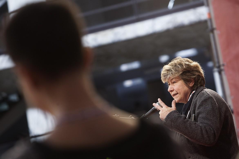 Susanna Camusso ieri sul palco del Palacongressi Eur