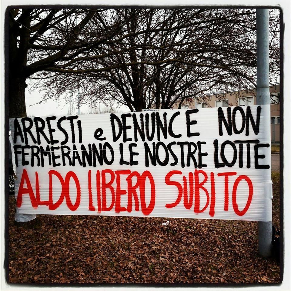 Modena, la protesta per Aldo Milani