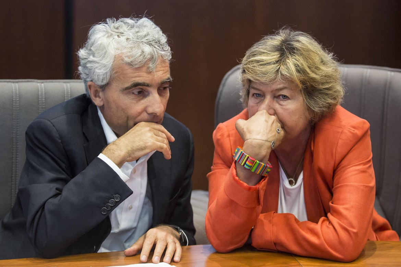 Il presidente dell'Inps Tito Boeri e la segretaria della Cgil Susanna Camusso