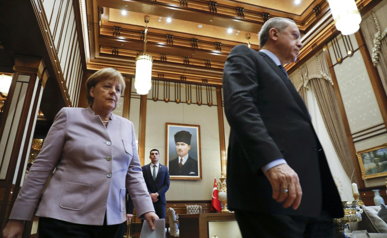 La cancelliera Merkel con il presidente turco Erdogan
