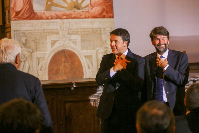 Matteo Renzi e Dario Franceschini