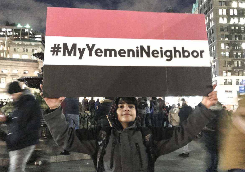 New York, protesta a Brooklyn della comunità yemenita fortemente colpita dal Muslimban