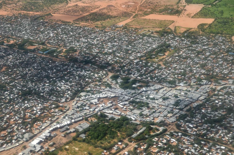 Il campo di Dadaab visto dall'alto