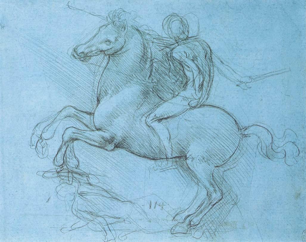 Leonardo Da Vinci, «Studio per il monumento equestre di Francesco Sforza»