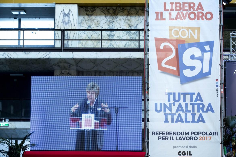 La segretaria generale della Cgil, Susanna Camusso