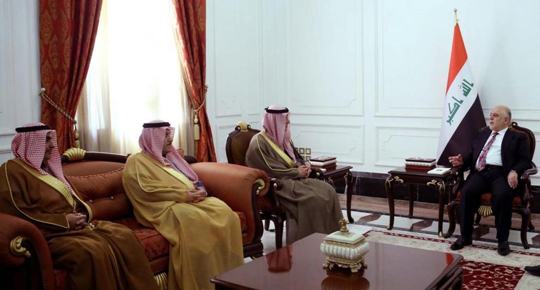 L'incontro tra il ministro degli esteri saudita al Jubeir e il premier iracheno al Abadi