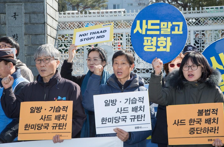 Proteste coreane contro il Thaad