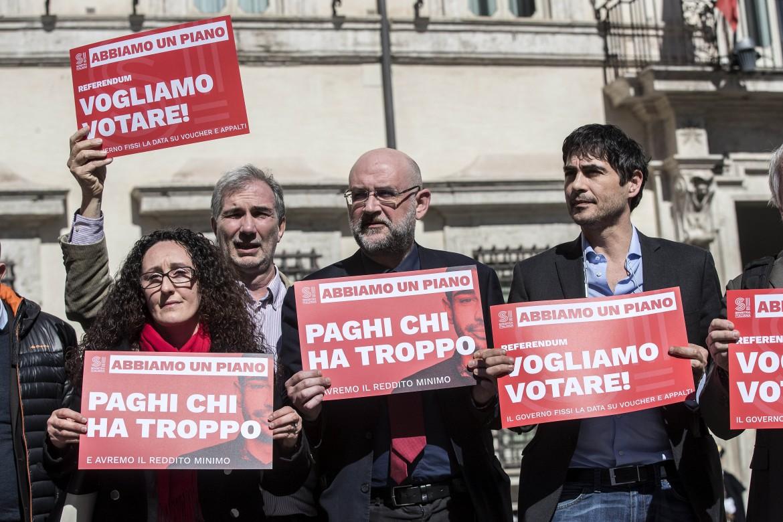 La mobilitazione per la patrimoniale di Sinistra Italiana