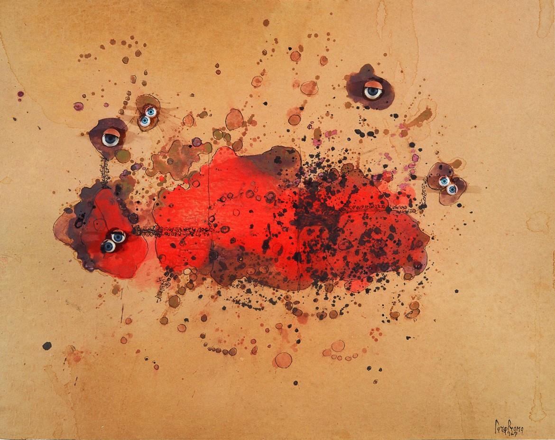 Carol Rama, «Bricolage», 1967