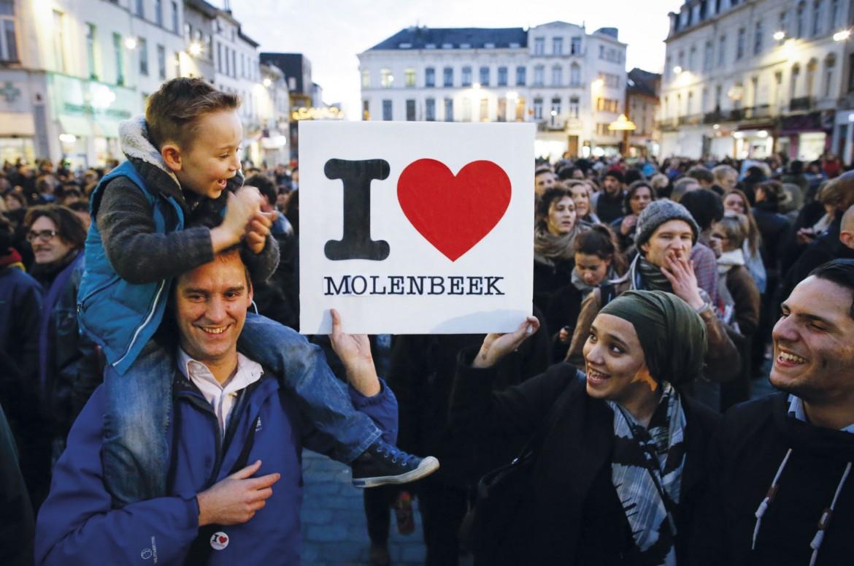 Manifestazione a Molenbeek