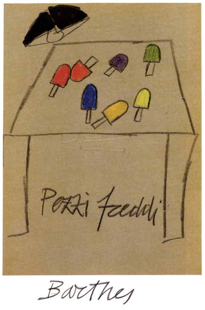 Emilio Tadini,  foglio n. 34, part., dai raccoglitori ad anelli degli anni settanta, ora conservati allo Spazio Tadini di Milano