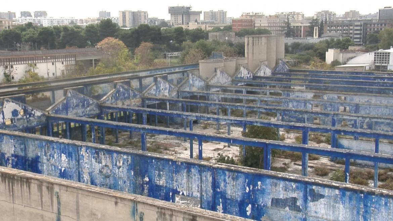 La ex Fibronit di Bari: i capannoni pieni di amianto si trovano vicino alle abitazioni e ad alcune scuole della città