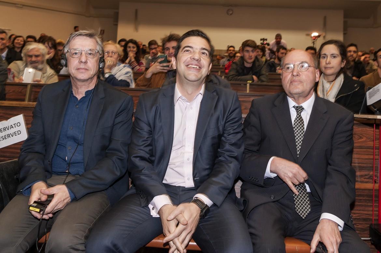 Gregor Gisy (a destra) con Alexis Tsipras