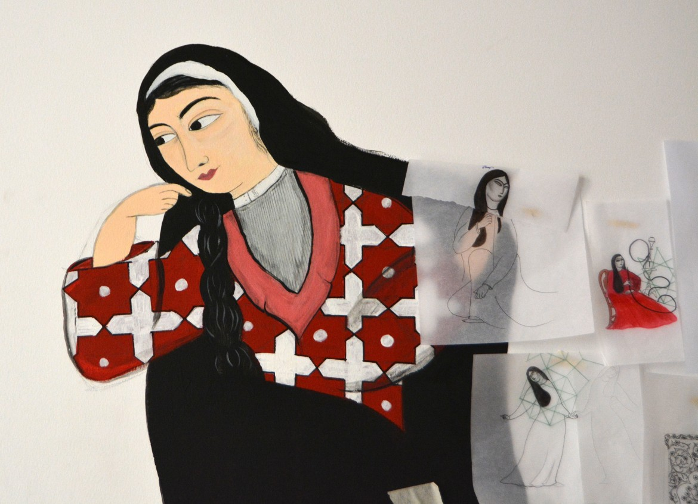 Nello studio di  Sarah  Mohanna Al Abdali, Gedda