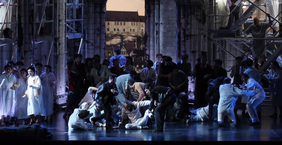 Una scena de I maestri cantori di Wagner