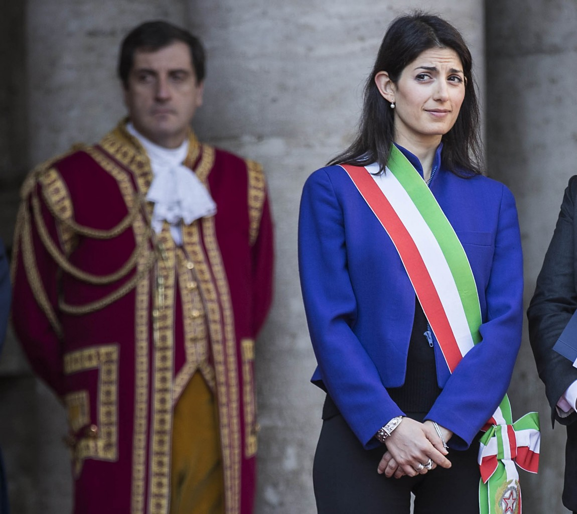 La sindaca di Roma Virginia Raggi