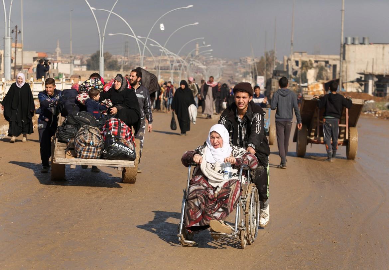 Civili sfollati dalla città di Mosul