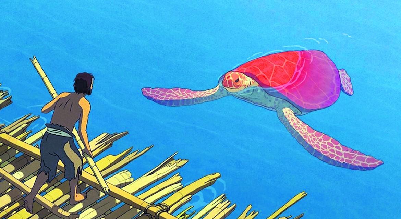 una scena da La tartaruga rossa