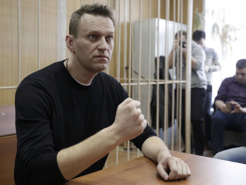 Alexei Navalny davanti ai giudici del tribunale Tverskoi di Mosca