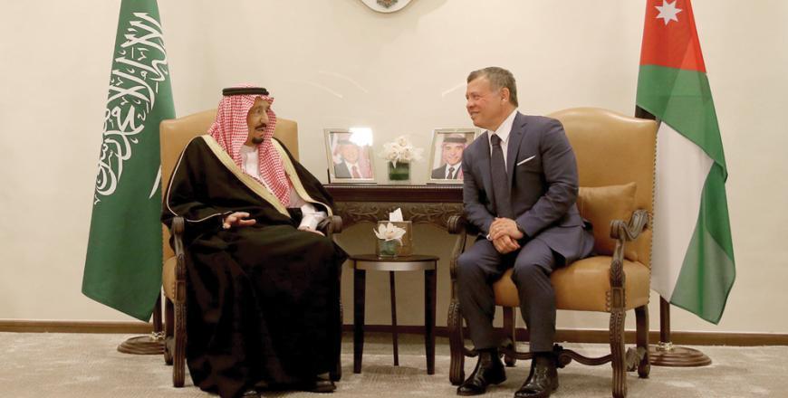 Il re saudita Salman e re Abdallah di Giordania