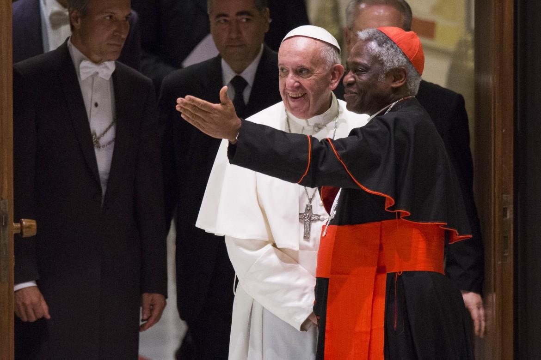 Papa Francesco con il cardinale Turkson