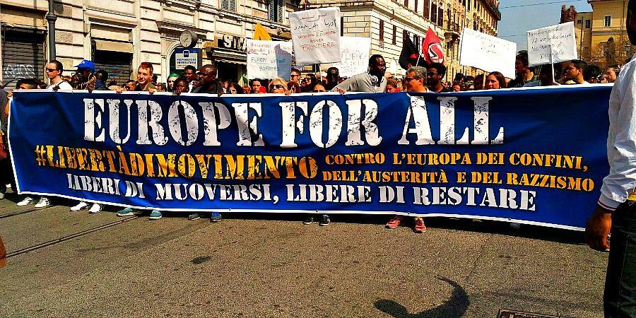 Roma, 25 marzo 2017, dal corteo