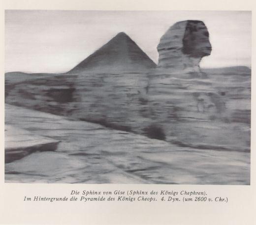 Gerhard Richter, «Grosse Sphinx von Giseh», 1964, collezione privata, courtesy Fine Art & Project, Mendrisio