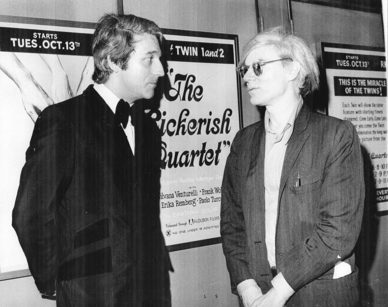 Radley Metzger con Andy Warhol