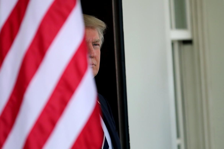 Il presidente Usa Trump alla Casa bianca
