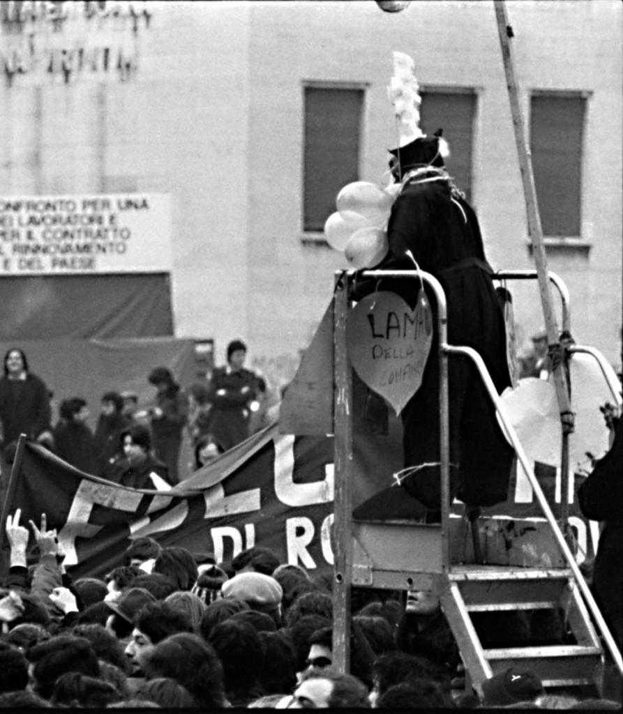 Roma 17 febbraio 1977. Università