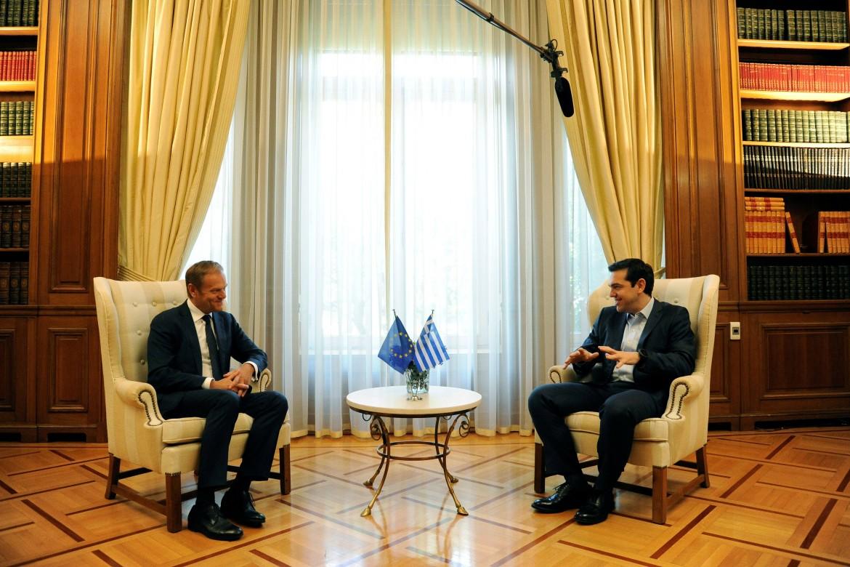 Atene, Alexis Tsipras riceve Donald Tusk